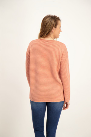 Pull uni en fines maille manches longues NIAKA Soyaconcept