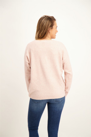 Pull uni en maille manches longues RICA Only