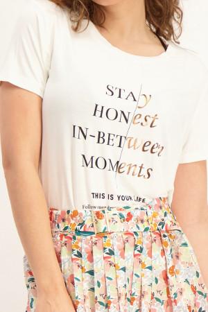 T-shirt manches courtes imprimé à l'avant Soyaconcept