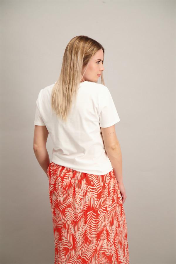 T-shirt uni basique manches courtes col V en coton S.Oliver