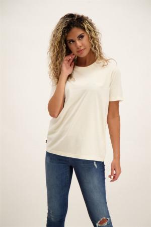 T-shirt uni en coton avec logo à la poitrine Superdry