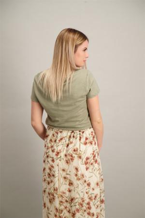 T-shirt uni avec lurex manches courtes Esqualo