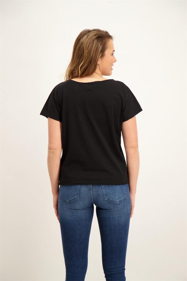 T-shirt oversized avec impression devant en coton MAUREEN Le Temps des Cerises