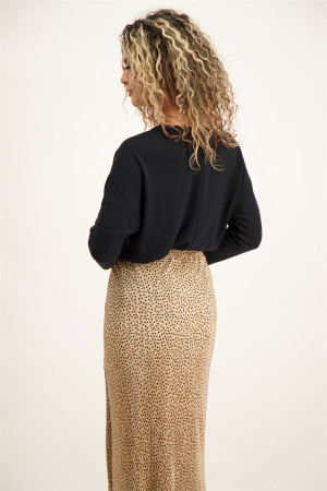 Pull uni en fine maille manches longues Street One