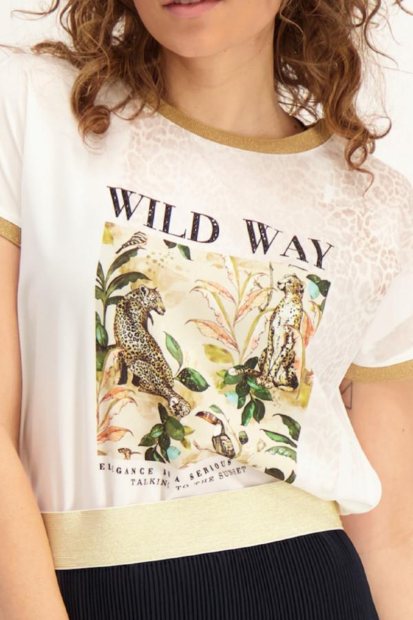 T-shirt satiné avec impression GIJON Amélie & Amélie