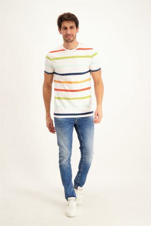 T-shirt rayé en coton EDUARD Only & Sons