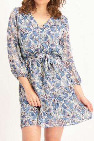 Robe courte fleurie avec ceinture à nouer CINCINNATI Amélie & Amélie