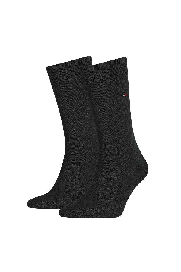 Chaussettes unies avec logo brodé Tommy Hilfiger