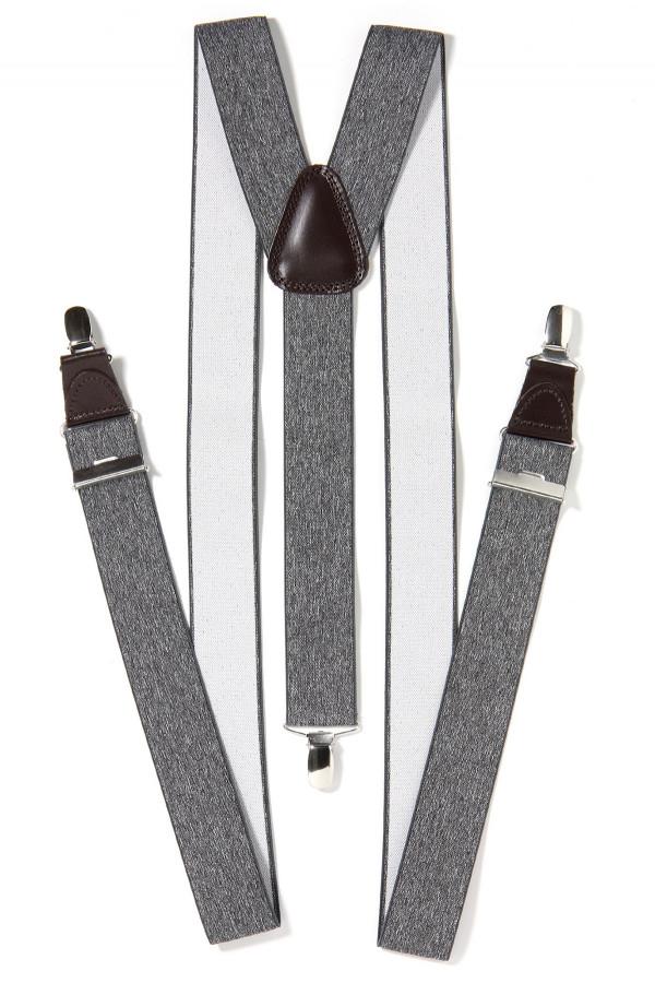 Bretelles unies avec pinces métalliques Michaelis