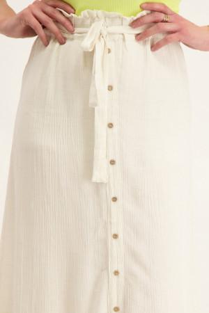 Jupe longue unie avec boutons décoratifs et ceinture NAOMI Vero Moda