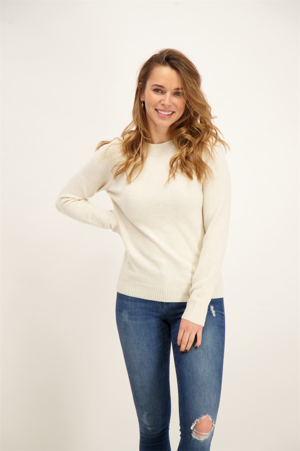 Pull uni en maille manches longues DOFFY Only