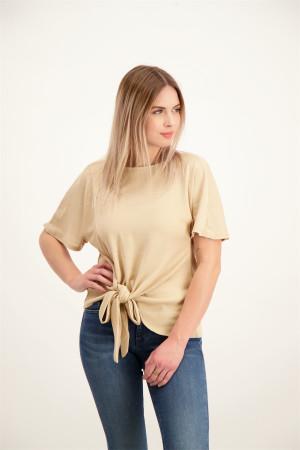 T-shirt uni oversized avec noeud dans le bas NAMINA Vila