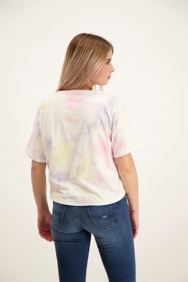 T-shirt oversized imprimé tie & dye en coton stretch ZOEY Only