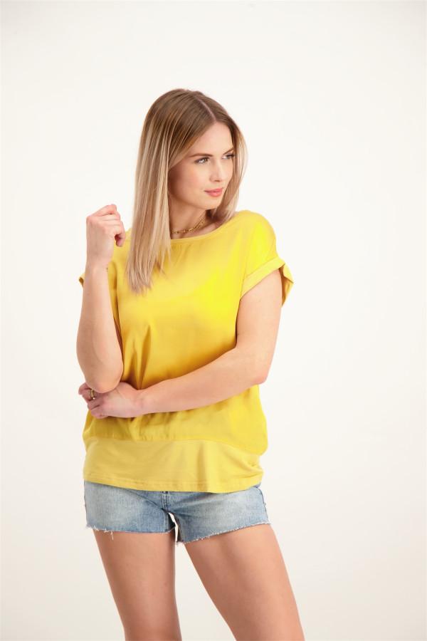 T-shirt uni courtes manches matière satinée devant THILDE Soyaconcept