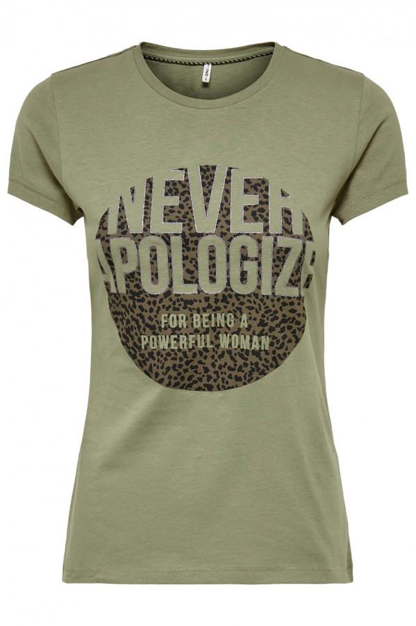 T-shirt à courtes manches avec impression devant NICOLE Only