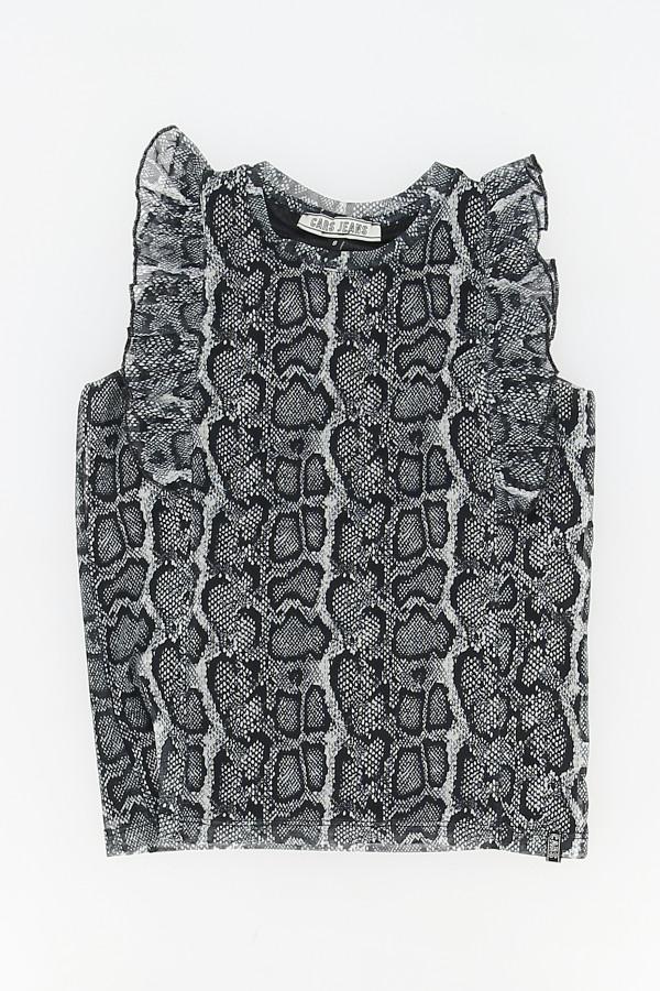 Blouse en résille imprimé python Cars Jeans