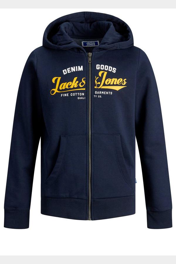 Sweat à capuche avec logo et poches Jack & Jones