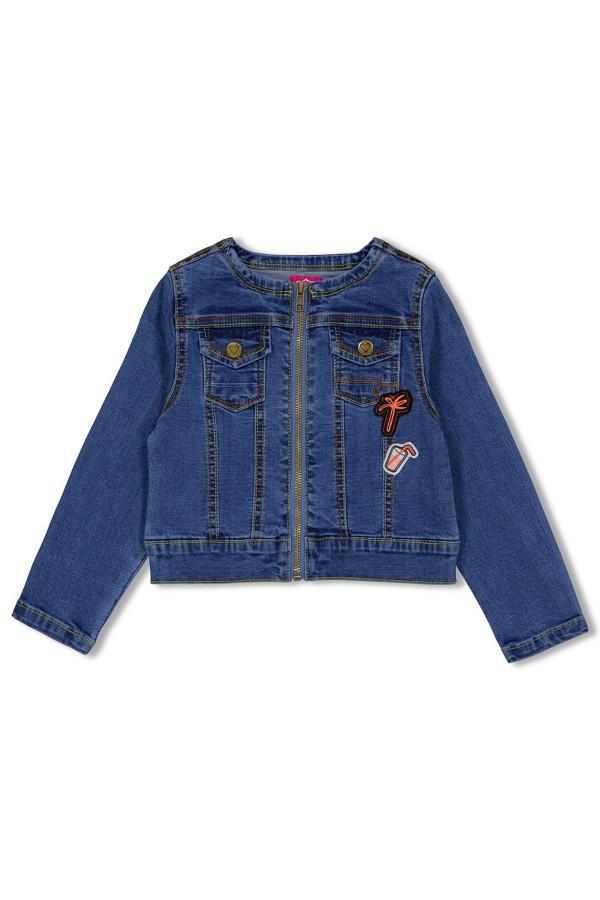 Veste en jean avec badges et poches à rabats Jubel
