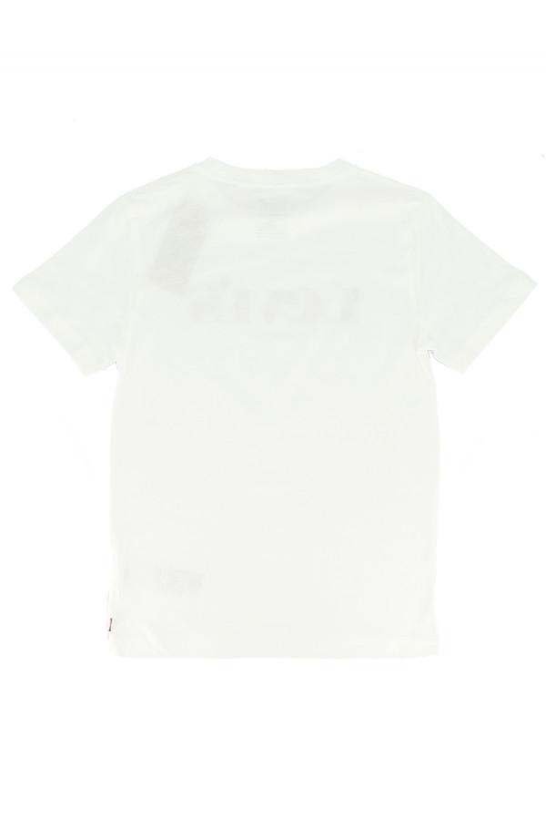 T-shirt uni en coton avec impression Levi's