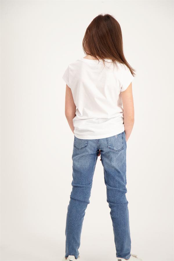 T-shirt fille cintré uni avec logo Levi's