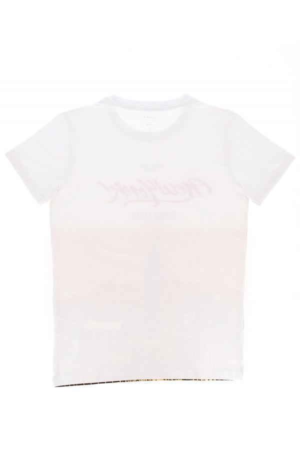 T-shirt uni en coton stretch avec impression devant JULIUS Name It