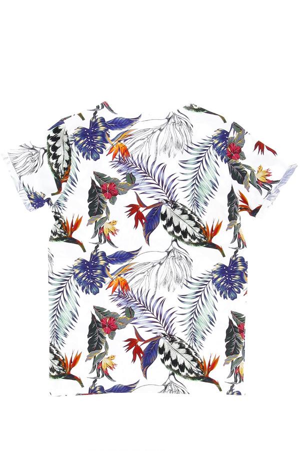 T-shirt fleuri avec impression devant en coton stretch JOBBAN Name It