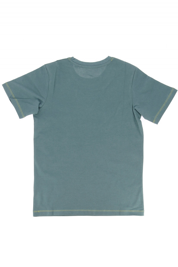 T-shirt uni en coton avec logo imprimé devant SHADE Jack & Jones