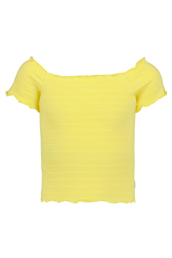 T-shirt côtelé uni ou rayé col carmen Garcia