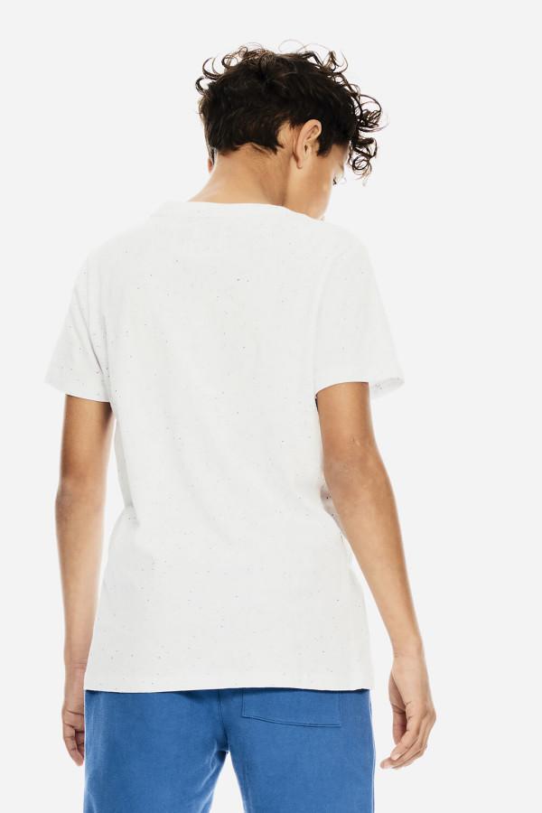 T-shirt chiné avec impression devant en coton stretch Garcia