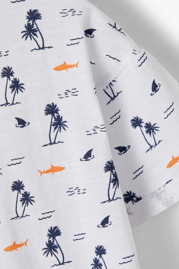 T-shirt en coton imprimé sur l'ensemble VALTHER Name It