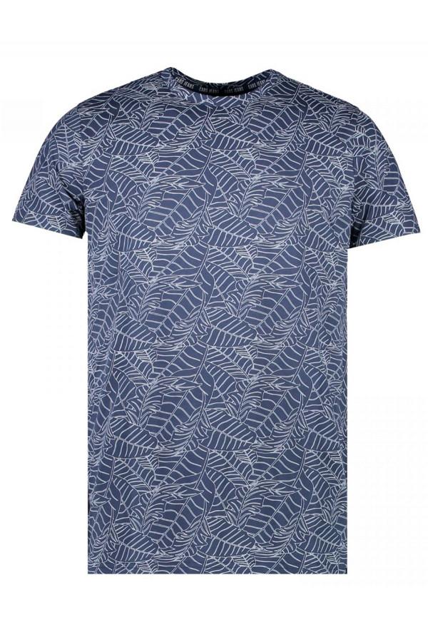 T-shirt imprimé feuillage en coton Cars Jeans