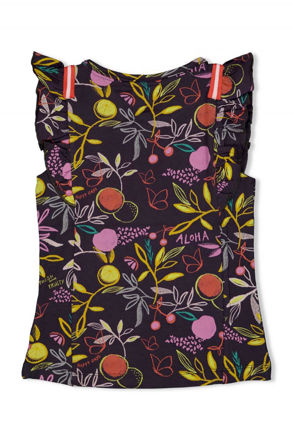 T-shirt stretch fruits imprimés sur l'ensemble Jubel