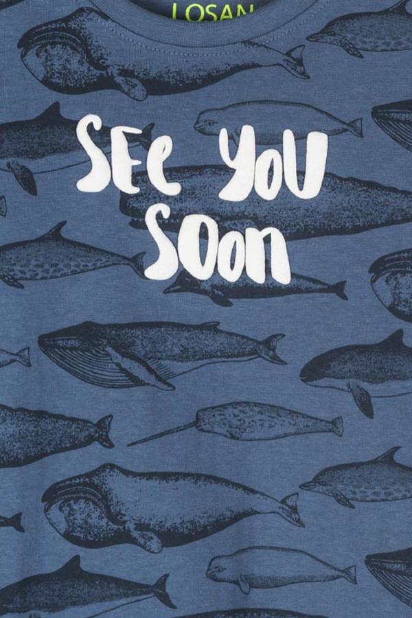 T-shirt stretch animaux marins imprimés sur l'ensemble Losan