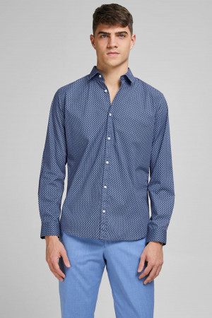 Chemise Slim fit imprimée en coton stretch BLABLACK Jack & Jones