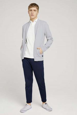 Polo imprimé minimaliste manches courtes en coton Tom Tailor
