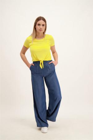 Pantalon droit large uni avec fermeture éclair BLAIR Only