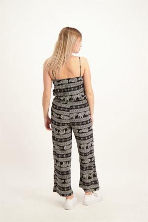 Combinaison imprimée avec fines bretelles et jambes larges Molly Bracken