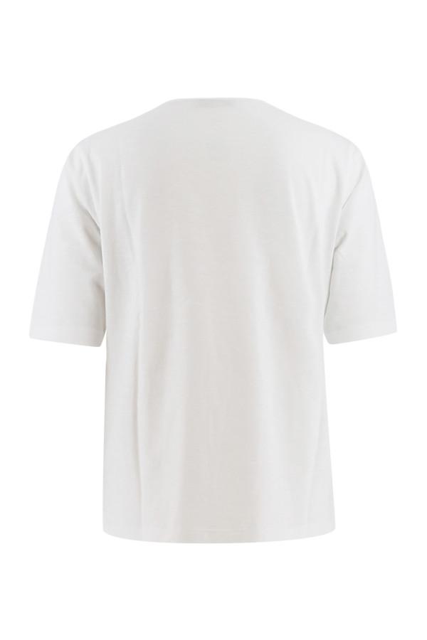 T-shirt uni en coton flammé avec poche poitrine Signe Nature