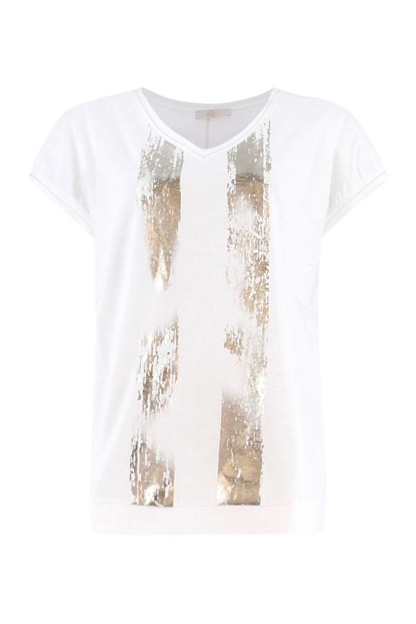 T-shirt loose base resserrée imprimé à l'avant Signe Nature