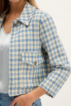 Veste en tweed imprimé pieds-de-poule Signe Nature