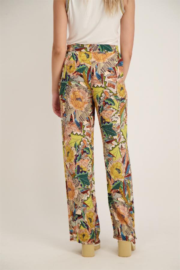 Pantalon fluide imprimé fleuri avec taille élastiquée Signe Nature