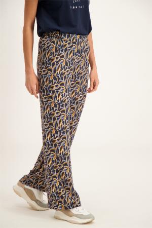 Pantalon large imprimé fleuri taille élastiquée Signe Nature