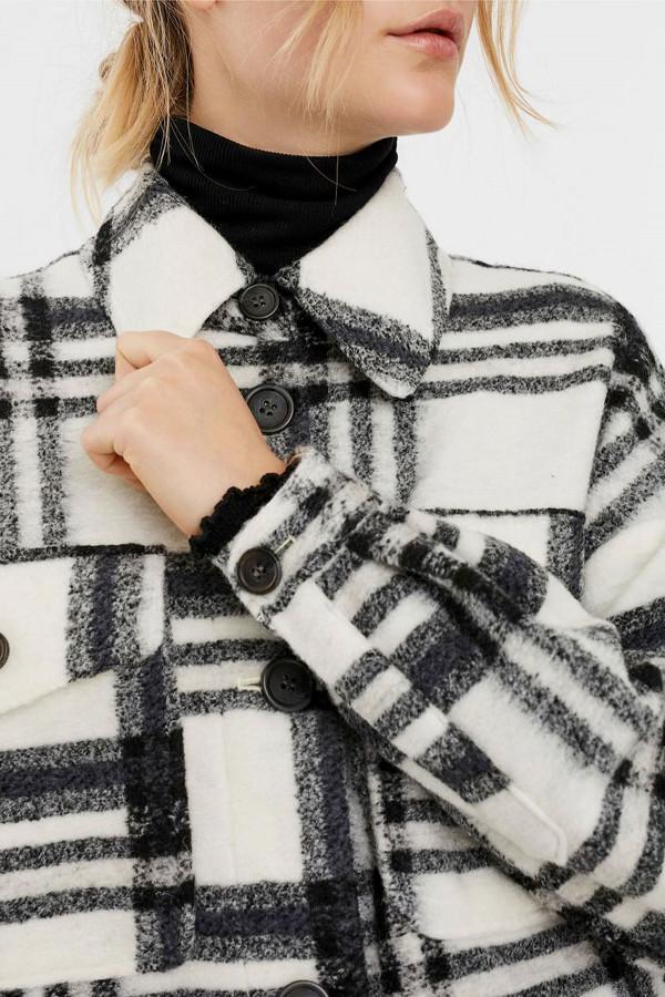 Chemise laineuse imprimé à carreaux CHRISSIE Vero Moda