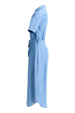 Robe longue en tencel avec ceinture et poches poitrine Signe Nature