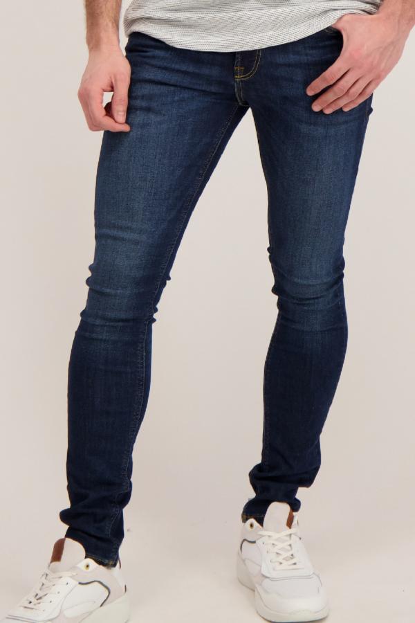 Jean foncé modèle skinny stretch LIAM Jack & Jones