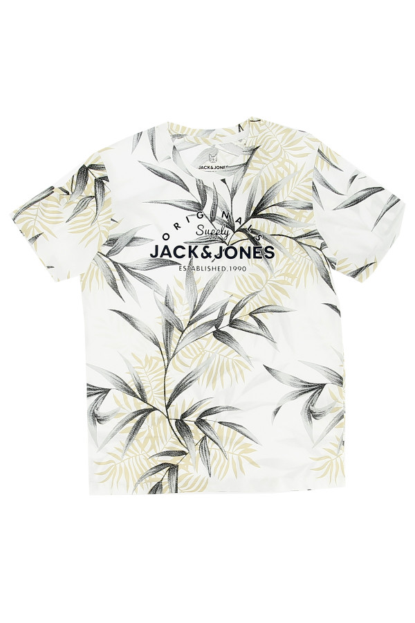 T-shirt imprimée avec logo devant en coton POP Jack & Jones