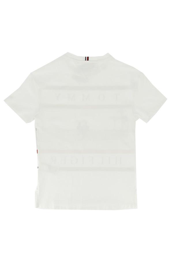 T-shirt uni avec impression en coton Tommy Hilfiger