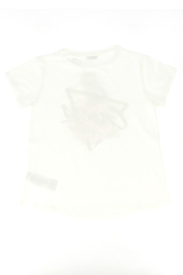 T-shirt en coton stretch avec impression devant Guess