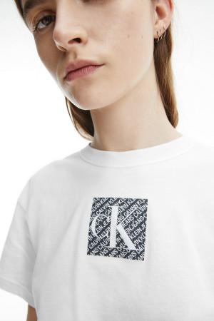 T-shirt uni court avec logo devant en coton Calvin Klein