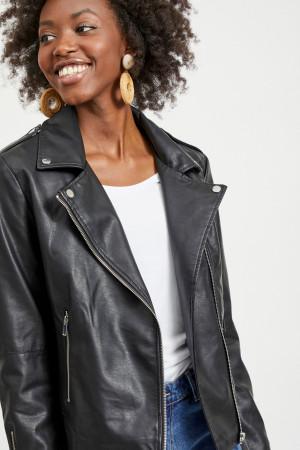 Perfecto noir en similicuir Cara Leather Ja Vila Femme